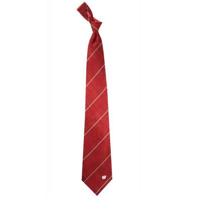 Wisconsin Badgers Oxford Woven Silk Tie | Eagles Wings | 4909