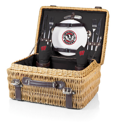Wisconsin Badgers Champion Picnic Basket | Picnic Time | 208-40-179-644-0