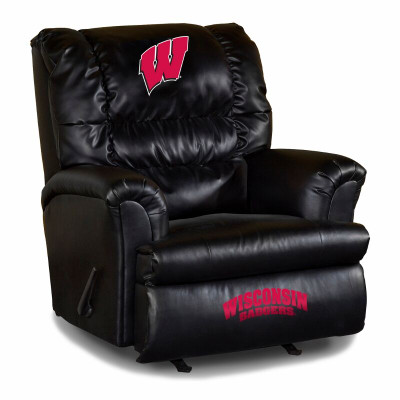 Wisconsin Badgers Leather Big Daddy Recliner   Imperial International   79-3013