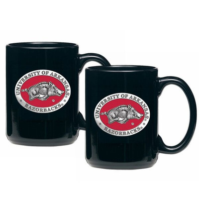 Arkansas Razorbacks Coffee Mug Set of 2 | Heritage Pewter | CM10255ERBK