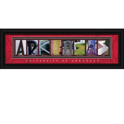 Arkansas Razorbacks Letter Art | Get Letter Art | CLAL1B22ARKA
