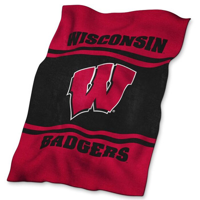 Wisconsin Badgers Ultrasoft Blanket | Logo Chair | 244-27