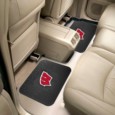 Wisconsin Badgers Utility Car Mats Set of Two   Fanmats   12311