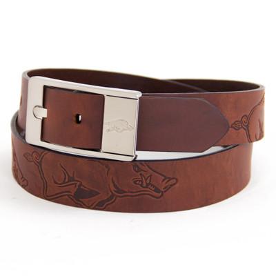 Arkansas Razorbacks Brandish Brown Belt