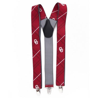 Oklahoma Sooners Oxford Suspenders   Eagles Wings   8034