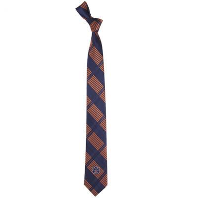 Auburn Tigers Plaid Skinny Tie   Eagles Wings   3832