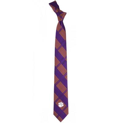 Clemson Tigers Plaid Skinny Tie | Eagles Wings | 3834