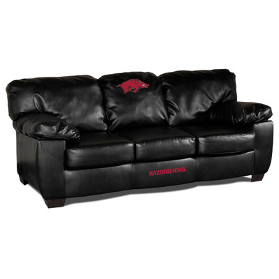 Arkansas Razorbacks Classic Leather Sofa | Imperial International | 79-6022