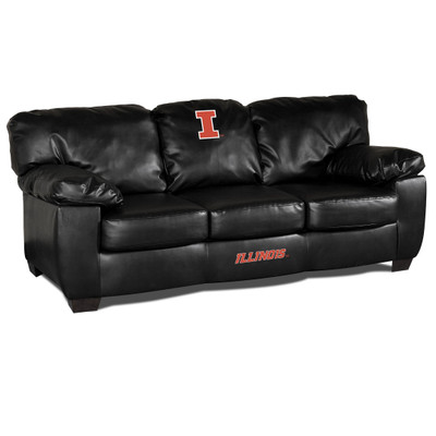 Illinois Fighting Illini Classic Leather Sofa | Imperial International | 79-6028