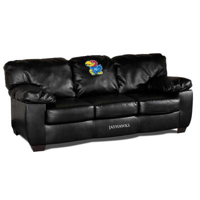 Kansas Jayhawks Classic Leather Sofa | Imperial International | 79-6020