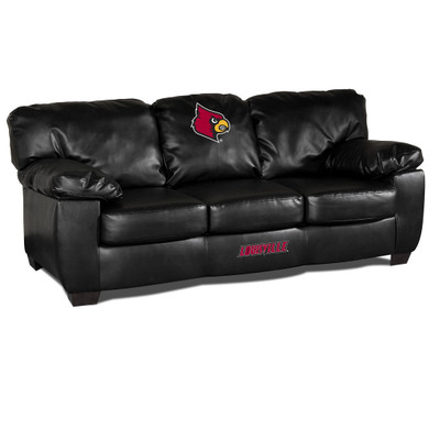 Louisville Cardinals Classic Leather Sofa | Imperial International | 79-6031