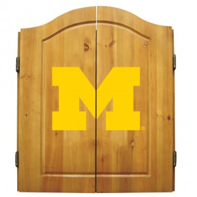 Michigan Wolverines Dart Board Cabinet | Imperial International | IPI58-4009