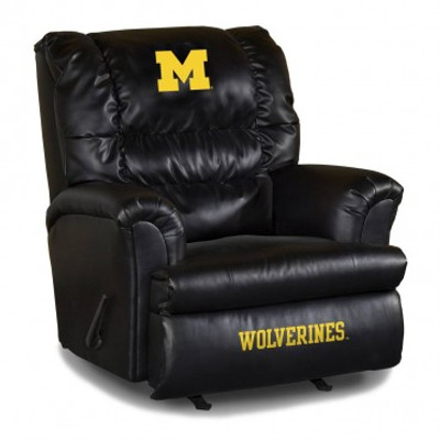 Michigan Wolverines Leather Big Daddy Recliner | Imperial International | 79-3009