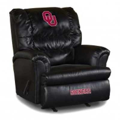 Oklahoma Sooners Leather Big Daddy Recliner | Imperial International | 79-3007