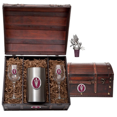 Arizona State Sun Devils Wine Chest Set | Heritage Pewter | WSC10827ER