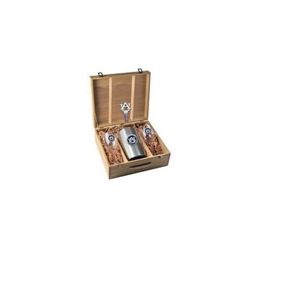 Auburn Tigers Wine Box Set | Heritage Pewter | WSB10155EB