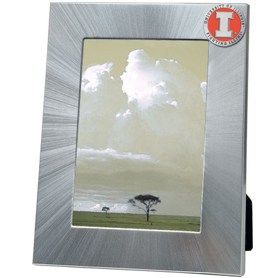 Illinois Fighting Illini 5x7 Picture Frame | Heritage Pewter | FR10269EOLG