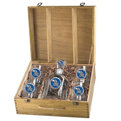 Kansas Jayhawks Decanter Box Set | Heritage Pewter | CPTB10184EB