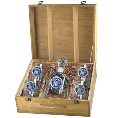 Kentucky Wildcats Decanter Box Set | Heritage Pewter | CPTB10168EB