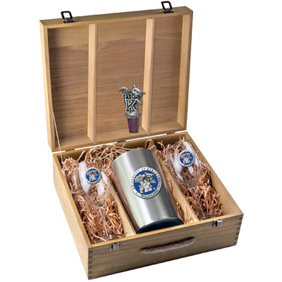 Kentucky Wildcats Wine Box Set | Heritage Pewter | WSB10168EB