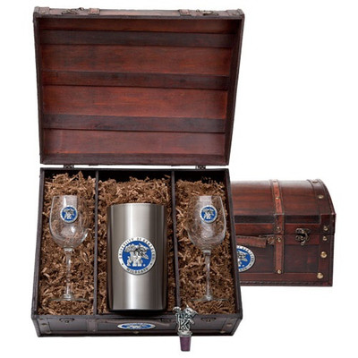 Kentucky Wildcats Wine Chest Set | Heritage Pewter | WSC10168EB