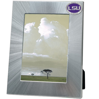LSU Tigers 5x7 Picture Frame | Heritage Pewter | FR10374EPLG