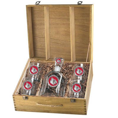 Louisville Cardinals Decanter Box Set | Heritage Pewter | CPTB10186ER