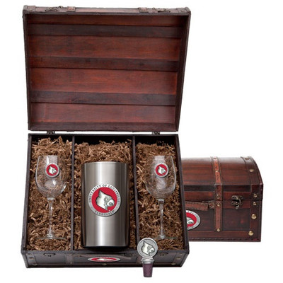 Louisville Cardinals Wine Chest Set | Heritage Pewter | WSC10186ER