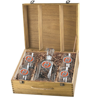 Oklahoma State Cowboys Decanter Box Set | Heritage Pewter | CPTB10152EO