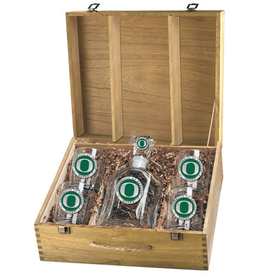 Oregon Ducks Decanter Box Set | Heritage Pewter | CPTB10169EG