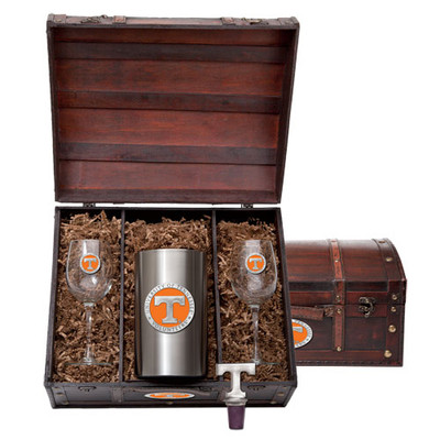 Tennessee Volunteers Wine Chest Set | Heritage Pewter | WSC10115EO