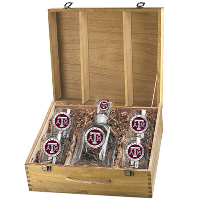 Texas A&M Aggies Decanter Box Set | Heritage Pewter | CPTB10126ER
