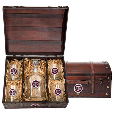 Texas A&M Aggies Decanter Chest Set | Heritage Pewter | CPTC10126ER
