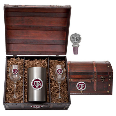Texas A&M Aggies Wine Chest Set | Heritage Pewter | WSC10126ER