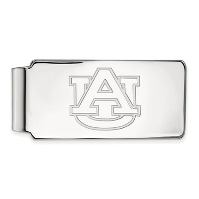 Auburn University Logo Sterling Silver Money Clip | Logo Art | SS025AU