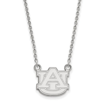 Auburn University Logo Sterling Silver Pendant Necklace | Logo Art | SS015AU-18