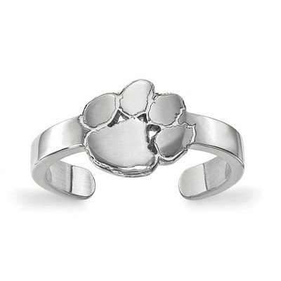 Clemson Tiger Paw Sterling Silver Toe Ring | Logo Art | SS029CU
