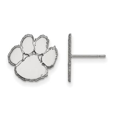 Clemson Tiger Paw Sterling Silver Post Earrings | Logo Art | SS009CU