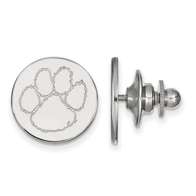 Clemson Tiger Paw Sterling Silver Lapel Pin | Logo Art | SS011CU