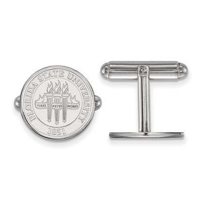 FSU Crest Sterling Silver Cufflinks | Logo Art | SS080FSU