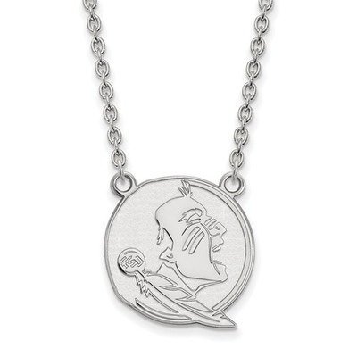 FSU Seminoles Sterling Silver Pendant Necklace | Logo Art | SS055FSU-18