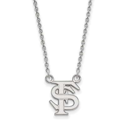 FSU Logo Sterling Silver Pendant Necklace | Logo Art | SS015FSU-18