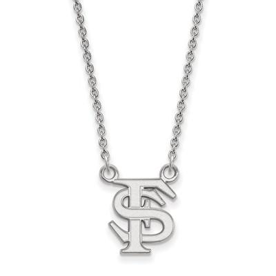 FSU Logo Sterling Silver Pendant Necklace | Logo Art | SS015FSU-18