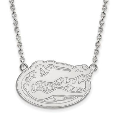 Florida Gators Sterling Silver Pendant Necklace   Logo Art   SS016UFL-18