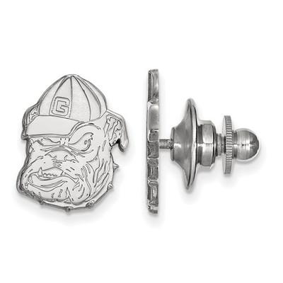 Georgia Bulldogs Mascot Sterling Silver Lapel Pin | Logo Art | SS051UGA