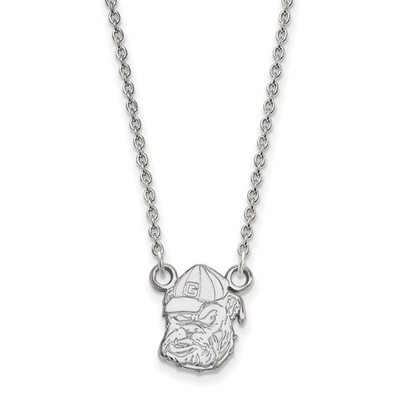Georgia Bulldogs Sterling Silver Pendant Necklace | Logo Art | SS054UGA-18