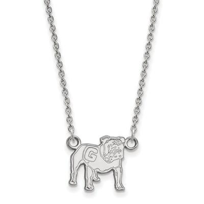 Georgia Bulldogs Mascot Sterling Silver Necklace | Logo Art | SS066UGA-18
