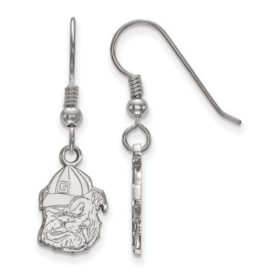 Georgia Bulldogs Sterling Silver Dangle Earrings | Logo Art | SS048UGA