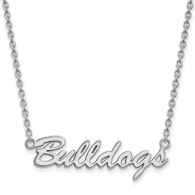 Georgia Bulldogs Script Logo Sterling Silver Necklace | Logo Art | SS077UGA-18