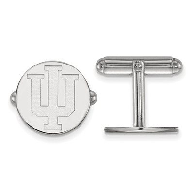 Indiana Hoosiers Sterling Silver Cufflinks | Logo Art | SS012IU
